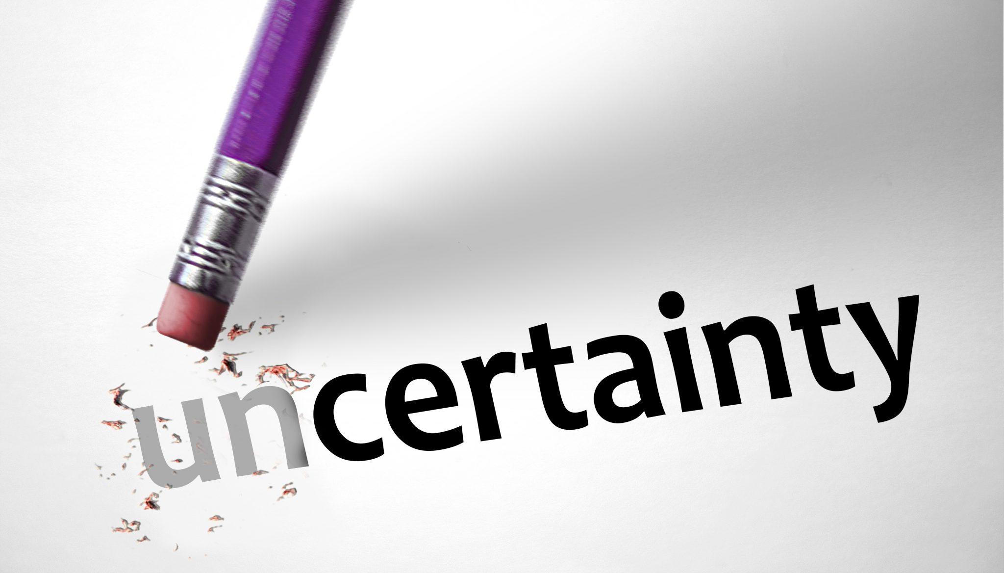 gérer l'incertitude